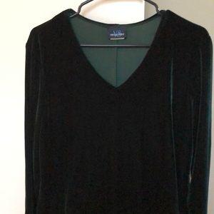 Dark Green Velvetish Dress